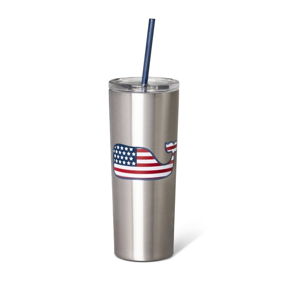 Vineyard Vines for Target Flag Whale Tumbler Cup